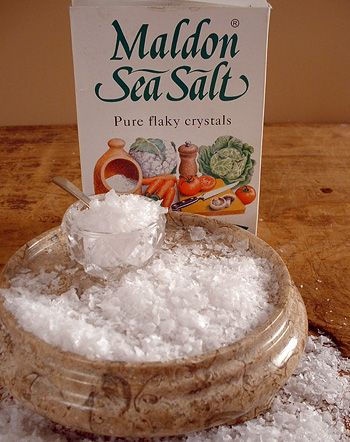 Maldon Salt.  This salt is the best stuff.  It's so good on fresh tomatoes.
