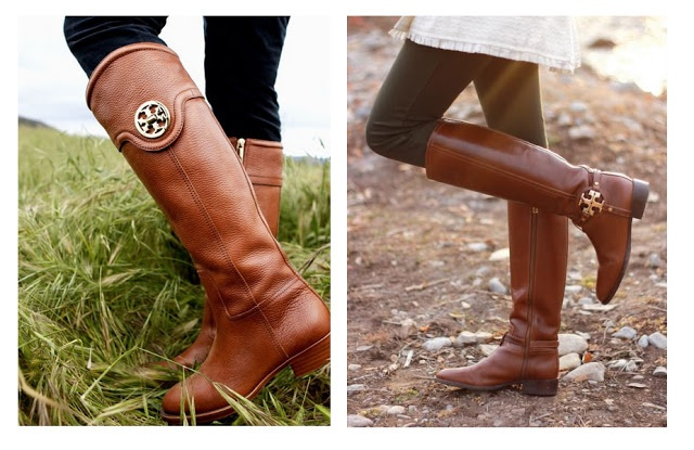 Tory Burch Selma riding boot 2011 vs Amanda riding boot 2012.  Both in Almond.  Hoping 2013 is more similar to 2011.
