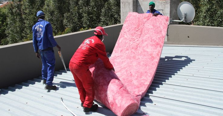 Aerolite (Think Pink) being prepared for installation in a flat-roofed house.