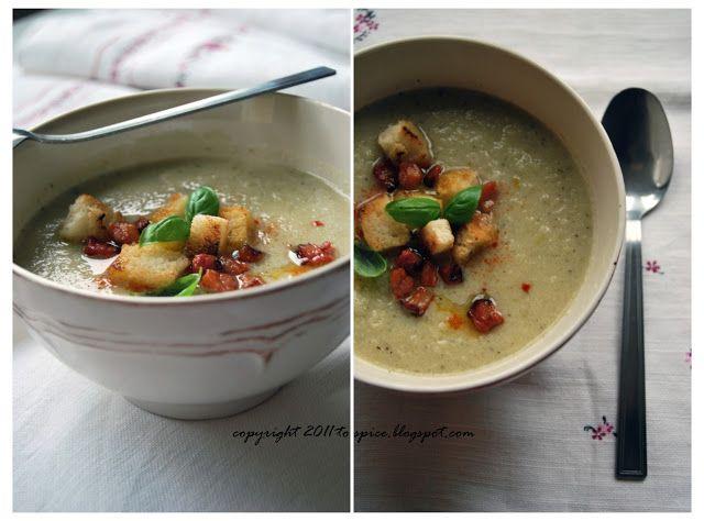 to spice - blog kulinarny, fotografia jedzenia, przepisy, kulinarne inspiracje...: Zupa krem z kalafiora i cebuli.
