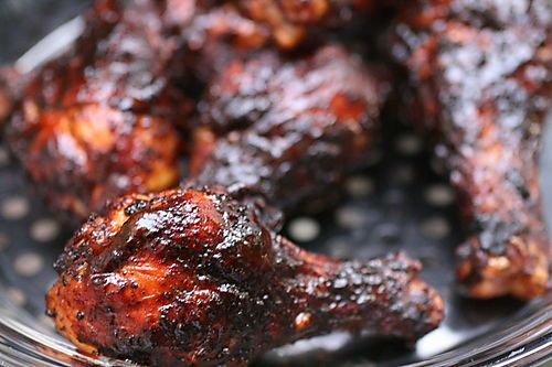 Barbeque Chicken.  the secret? create a smoky rub, consisting of paprika and chili powder to coat the chicken prior to grilling, then apply the barbecue sauce in the final five minutes of cooking.