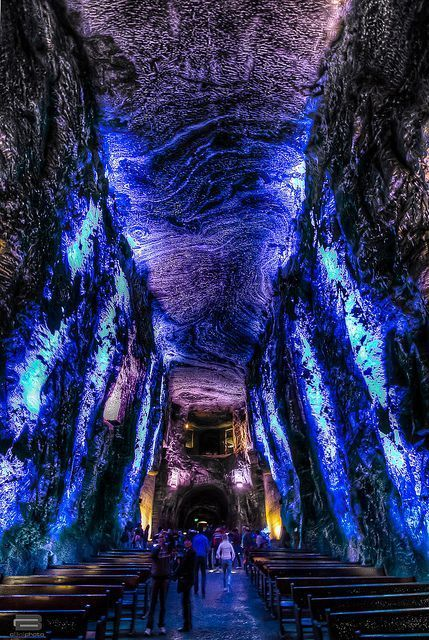 The Salt Cathedral of Zipaquirá outside Bogota, Colombia. Incredible, right?