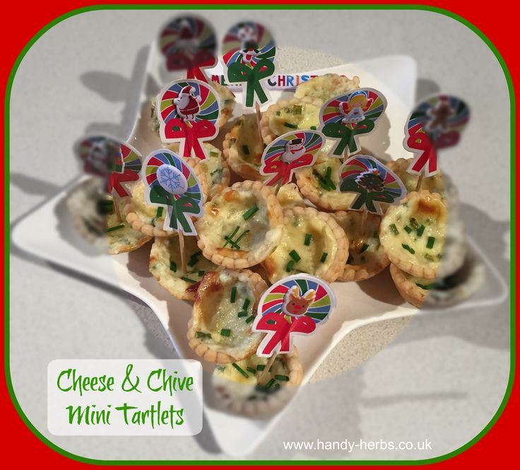 Cheese and Chive Mini Tartlets - little bites for the festive season!