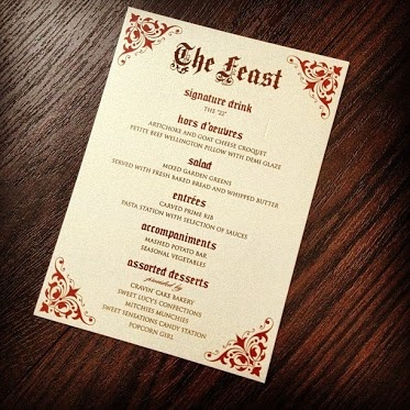 Http://www.paperandhome.com The Menu For The Feast The Las