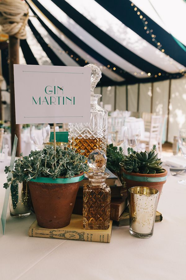 Gin Martini, from 'A 1920s Jazz Age, Prohibition and Charleston Inspired Vintage Wedding', photographed by http://www.brighton-photo.com/