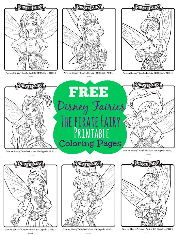 One Savvy Mom™ | NYC Area Mom Blog : Disney Pirate Fairy Free Printable Coloring Pages - Grab A Box Of Crayons!