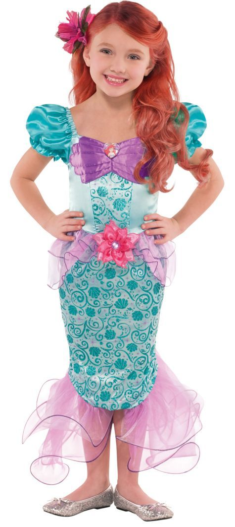 Toddler Girls Ariel Costume - Party City