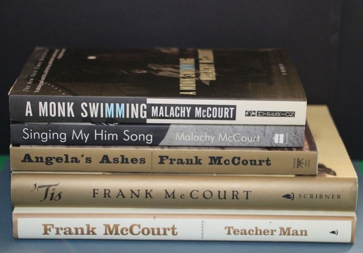 Angela's Ashes 'Tis Teacher Man by Frank McCourt + 2 Malachy = Lot of 5 memoirs
