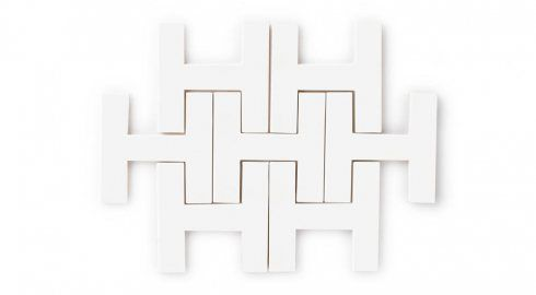 Chaine Homme White Gloss Tile | Eco-Friendly Handmade Tile |  -Fireclay Tile - Butlers Pantry Option 2