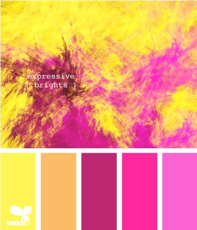"""expressive brights... Love the color pallette and wish i knew how to make this """"design"""". Any suggestions or know hows?"""