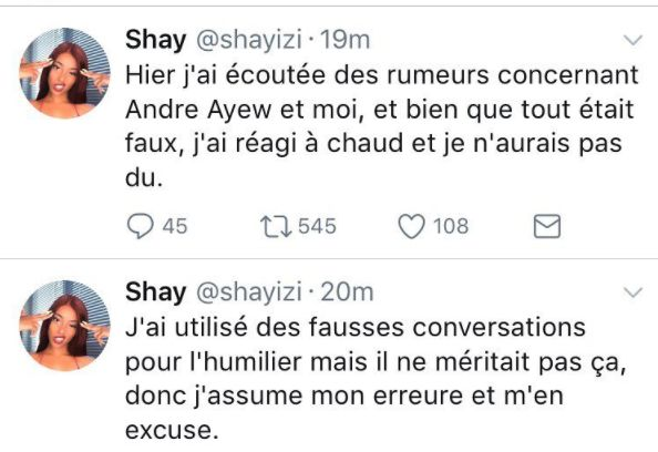 Shay fait ses excuses à Andre Ayew