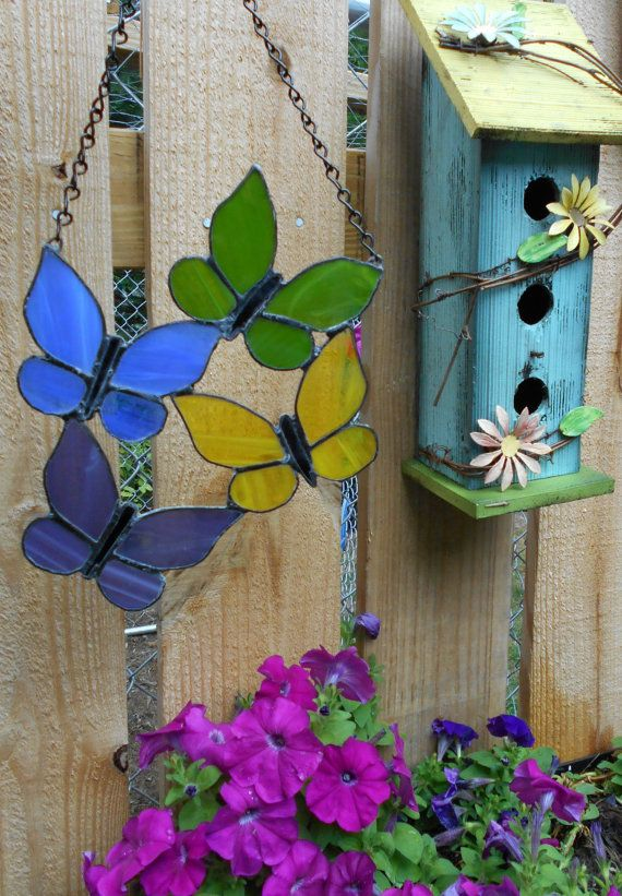 Stained+Glass+Butterflies+by+SparklesGlassArt+on+Etsy,+$19.00