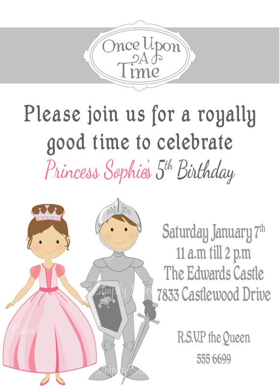 The 35 best images about Princess and Knights Birthday Party on – Princess and Knight Party Invitations