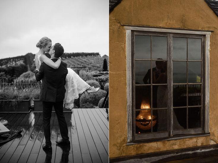 Wedding photos above restaurant (read blog at emmabrittenden.co.nz) | Mudbrick Vineyard & Restaurant, Waiheke Island