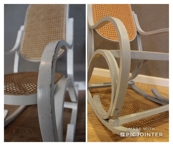Har pusset opp en nydelig 30 år gammel gyngesto😍 #furniture #makeover #scandinaviandesign #scandinavianfurniture #scamdinavianhome #scandinavianstyle #hobby #hobbytime #norge #ålesund #langevåg #bykarolina #chalkpaint