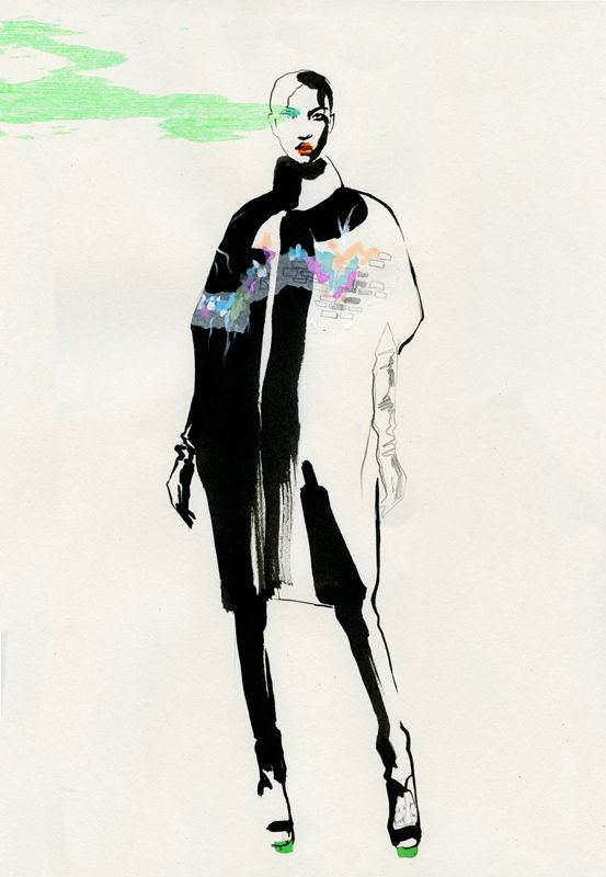 Fashion Illustration by Cecilia Carlstedt, pinned by Modeconnect.com