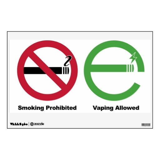 Smoking Prohibited. Vaping Allowed Wall Decal