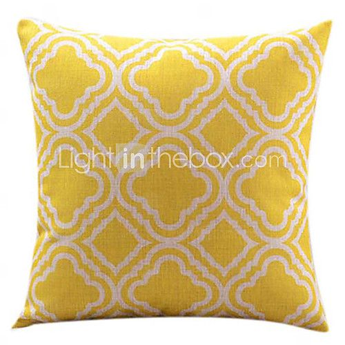 Cotton/Linen Pillow Cover , Graphic Prints Modern/Contemporary - USD $14.99