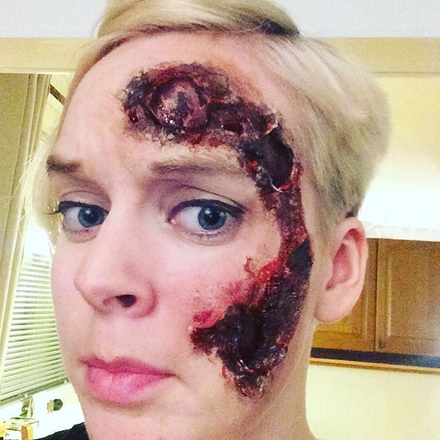 Told myself to never play with fire again. #halloween #specialeffects