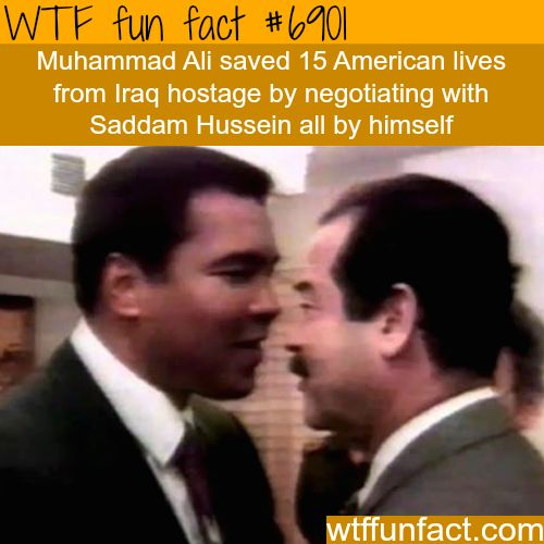 Muhammad Ali and Saddam Hussein - WTF fun fact
