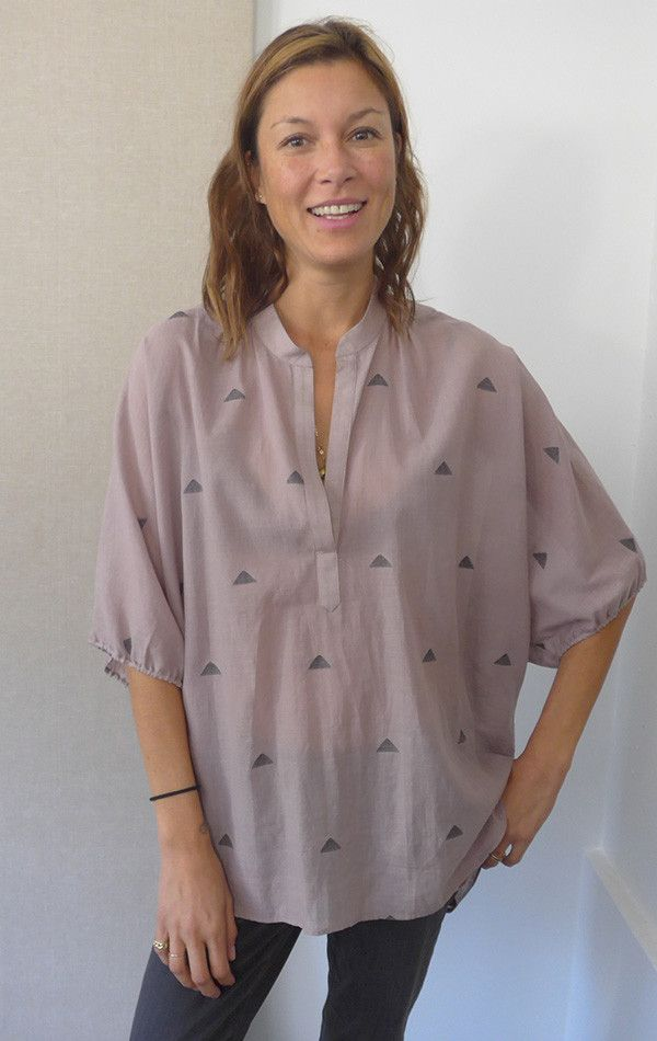 Handwoven Khadi Dolman Top