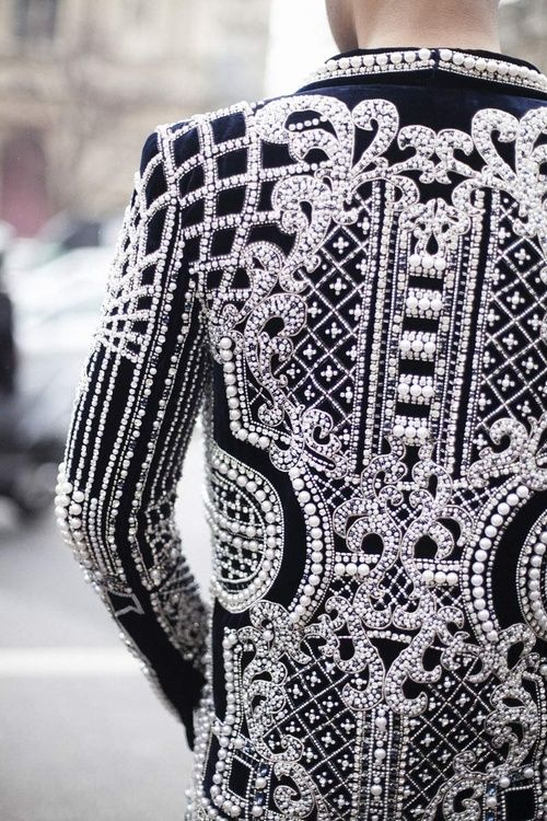 Balmain once again delivers some serious structure and detailing.