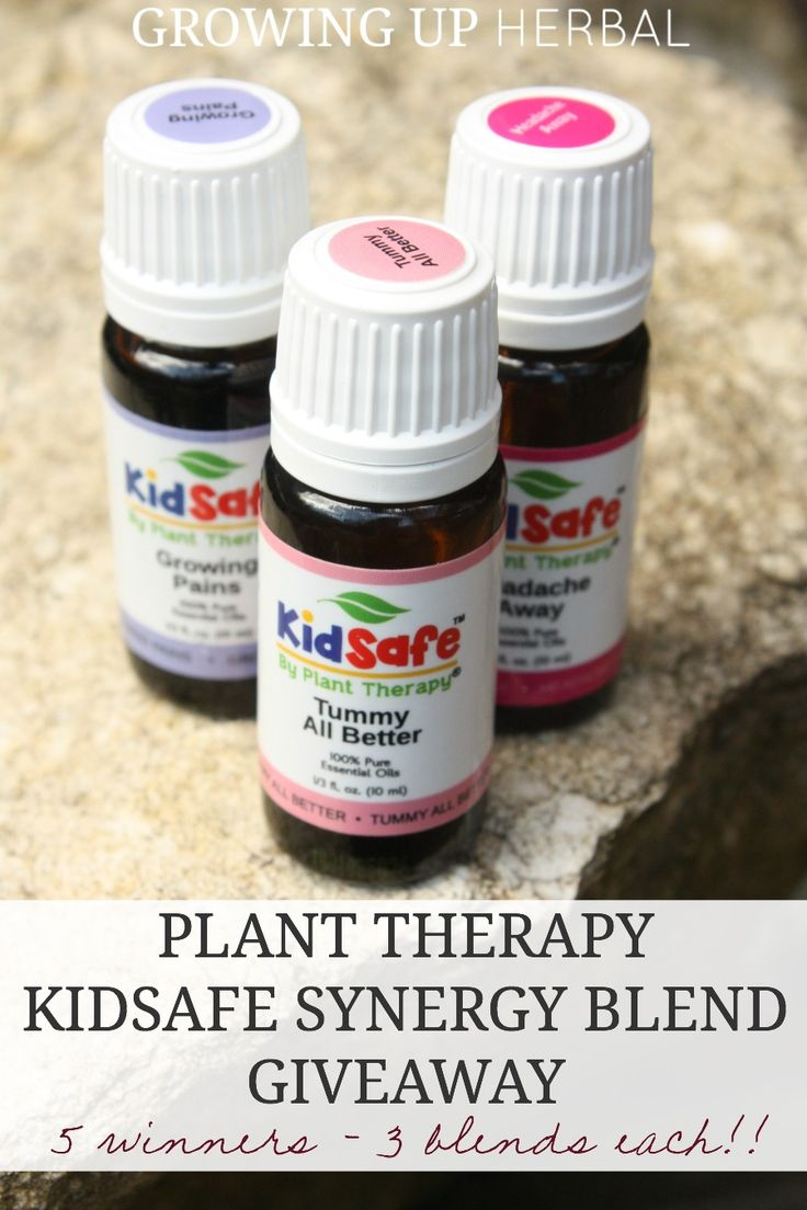 Plant Therapy KidSafe Synergy Blend Giveaway   Growing Up Herbal   Win some KidSafe oils from Plant Therapy. 5 winners will receive 3 synergy blends each!