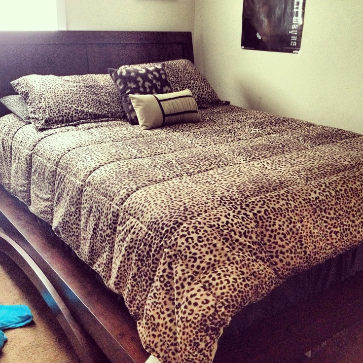 Cheetah Print comforter! Perfect bedroom. This is legit.