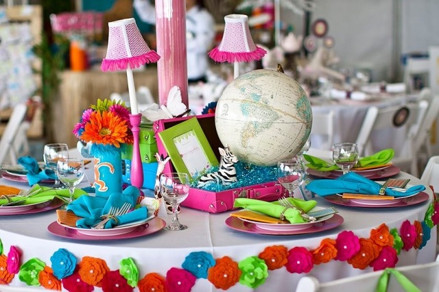 safari mesa: Operation Shower, Floral Border, Ideas I M, Safari Mesas, Blog Archives, Sunshine Safari, Turquoise Blue Tables, Parties Ideas, Shower Sunshine