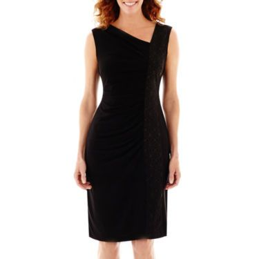R&M Richards Glitter Side Panel Ruched Dress - JCPenney