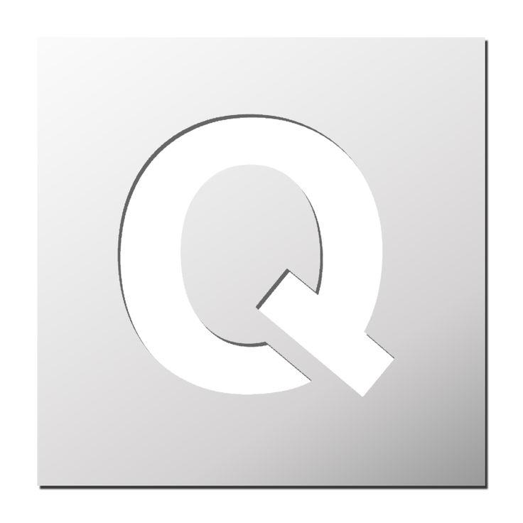 Pochoir lettre Q majuscule