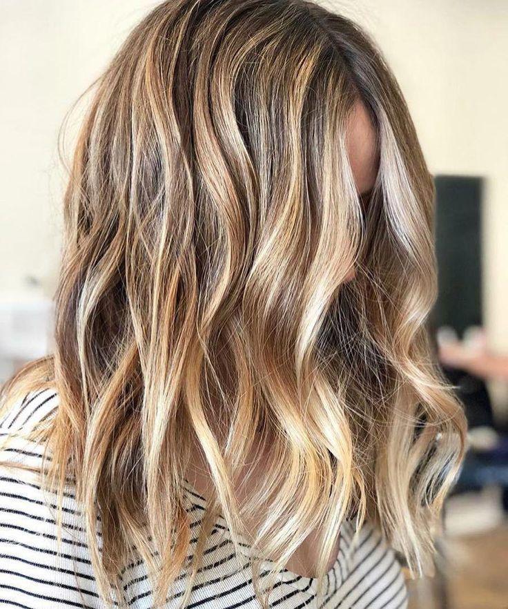 24 Wunderschöne Balayage Haarfarbe Idee, Beachy balayage Haarfarbe ## balayage #blon …
