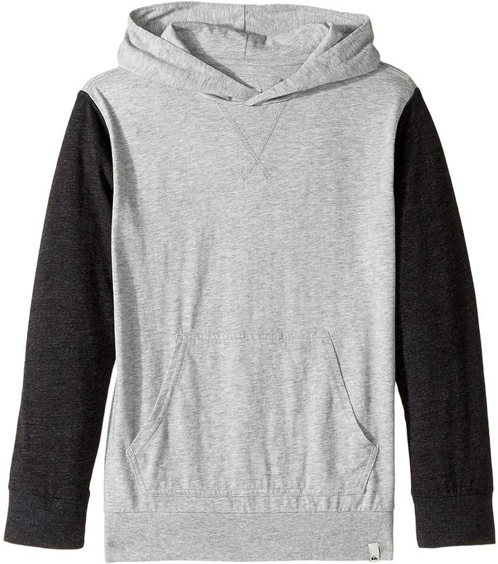 Quiksilver Guitar Magic Long Sleeve Hooded Tee Boy's Long Sleeve Pullover