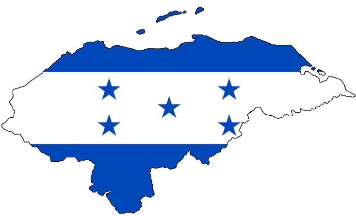 Honduras Flag Map large map 온두라스