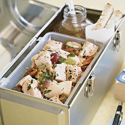 Portable Picnic Chicken salad with apples, grapes, pecans MyRecipes.com