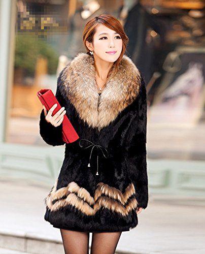 Furfox レディース ラビットファー ラクーンファーの毛襟 毛皮 コート アウター ジャケット ブルゾン (M) Furfox http://www.amazon.co.jp/dp/B015UH2EK6/ref=cm_sw_r_pi_dp_6HErwb0HV0X8S