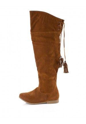 Cizme peste genunchi - Camel 14453