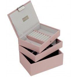 Stackers - Set 3 mini cutii bijuterii Pink Cloud