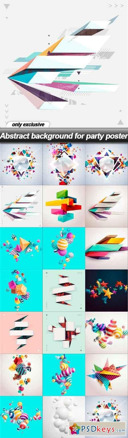 Abstract background for party poster - 20 EPS