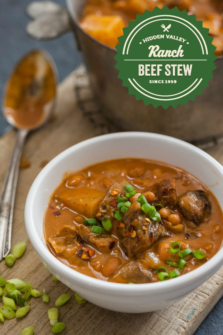 Feeling chilly? Slow cook your way to a cozy winter stew! This Slow Cooker Beef and Bean Stew recipe is so easy, you'll want to make it every week. BBQ beans and beef are complemented by the delicious flavor of Sweet Chili Ranch dressing. If you want, add a little barbecue sauce to kick up the flavor, and dream of summer grilling.