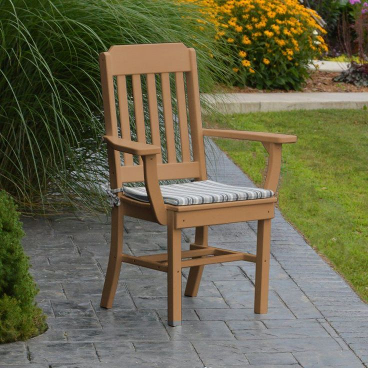 Outdoor A & L Furniture Traditional Poly 5 Piece Square Patio Dining Set - ALF337-51