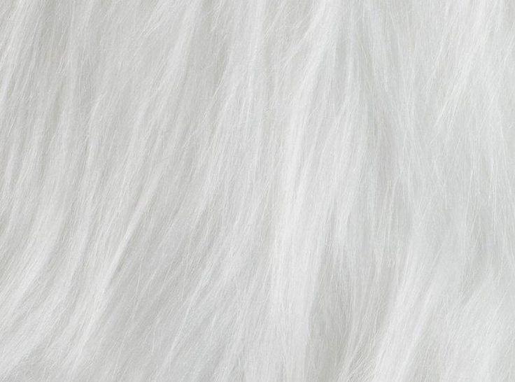 Włochacz, Sztuczne futro biały | tkaniny-hemmers.pl