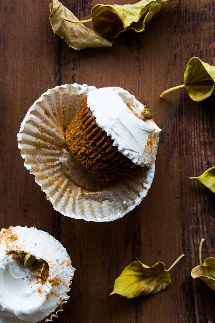 Vegan Chai Gewürz Cupcakes + Ahorn gepeitscht Kokosnuss Creme Frosting  Die gewaschene Küche