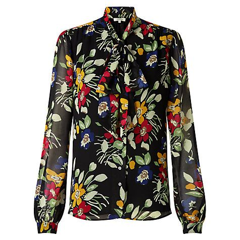 Buy Somerset by Alice Temperley Vintage Floral Blouse, Black Online at johnlewis.com