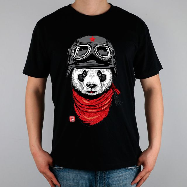 Promotion price Happy Adventurer panda T-shirt Top Pure Cotton Men T shirt New Design High Quality just only $11.04 with free shipping worldwide  #tshirtsformen Plese click on picture to see our special price for you