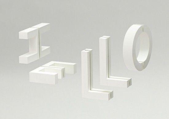 Reflexió: Experimental Typography by Ramon Carreté   Inspiration Grid   Design Inspiration