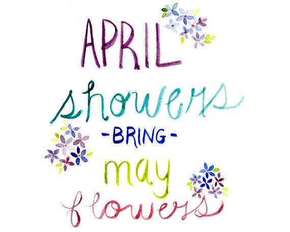 April Showers Bring May Flowers Printable - Etsy - Little Pond Prints