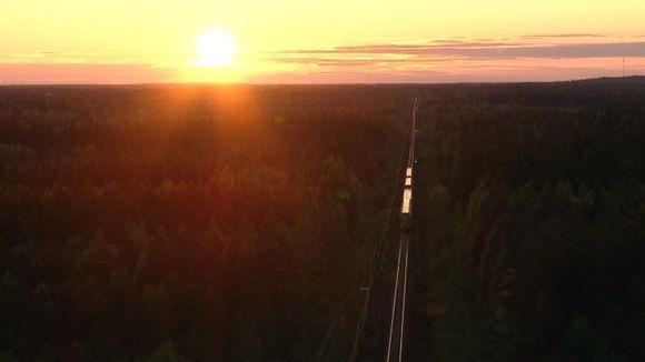Juna matkalla Suomessa