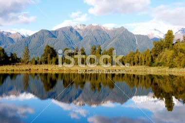 Lake Matheson, Tai Poutini National Park, New Zealand Royalty Free Stock Photo
