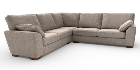 Buy Stamford Tailored Comfort Universal Corner Sofa 5 Seats Distressed Velour Mid Natural Large Square Angle Standard From The Next Uk On Corner Sofa Sofa Velour Fabric